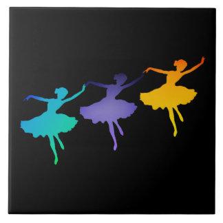 Three Dancers Ceramic Tile