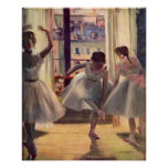 Three dancers in a practice room by Edgar Degas Posters