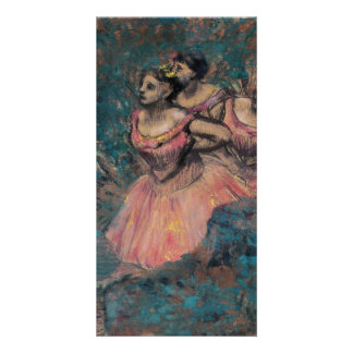 Three Dancers in Red Costume by Edgar Degas Card