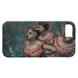 Three Dancers in Red Costume by Edgar Degas iPhone SE/5/5s Case