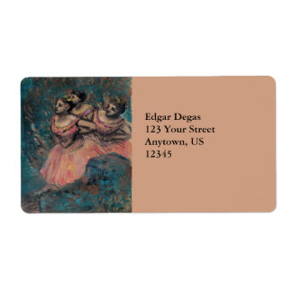 Three Dancers in Red Costume by Edgar Degas Label