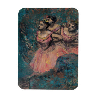 Three Dancers in Red Costume by Edgar Degas Magnet
