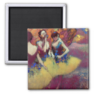 Three Dancers in Yellow Skirts by Degas Magnet