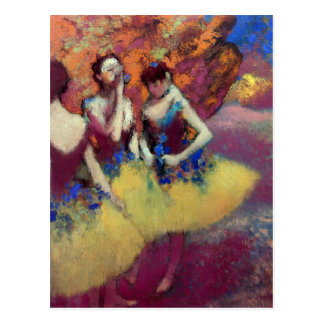 Three Dancers in Yellow Skirts Postcard