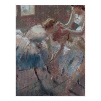 Three Dancers Preparing for Class - Edgar Degas Postcard