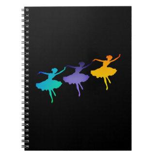 Three Dancers Spiral Notebook