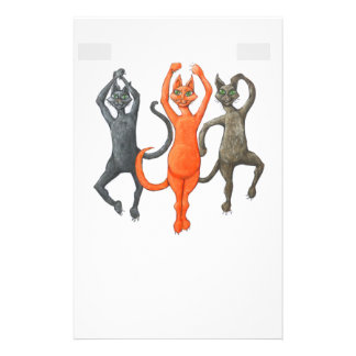 Three Dancing Cats Stationery