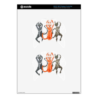 Three Dancing Cats Xbox 360 Controller Skin