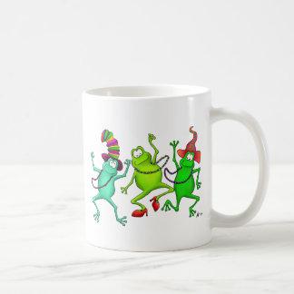 Three Dancing Frogs Coffee Mug