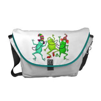 Three Dancing Frogs Messenger Bag
