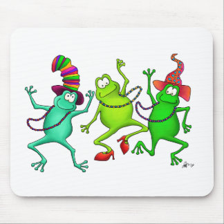 Three Dancing Frogs Mouse Pad