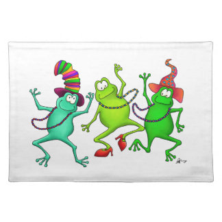 Three Dancing Frogs Placemat