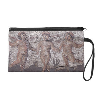 Three dancing putti accompanied by one playing the wristlet purse