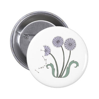 Three Dandelions in Lavender Pinback Button
