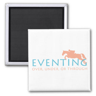 Three Day Eventing 2 Inch Square Magnet
