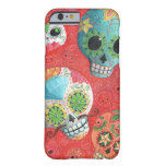 Three Day of The Dead Skulls Barely There iPhone 6 Case