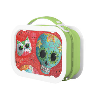 Three Day of The Dead Skulls Lunch Box