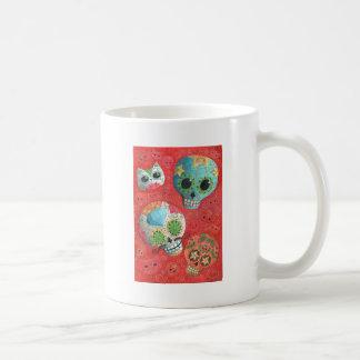 Three Day of The Dead Skulls Classic White Coffee Mug