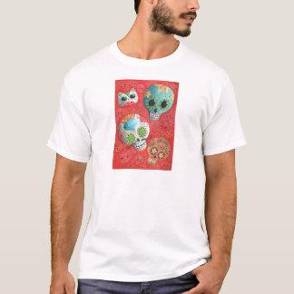 Three Day of The Dead Skulls T-Shirt