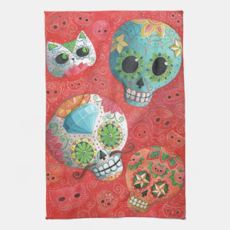 Three Day of The Dead Skulls Towel