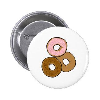 Three Delicious Donuts 2 Inch Round Button