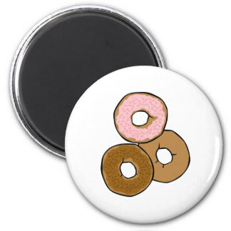 Three Delicious Donuts 2 Inch Round Magnet