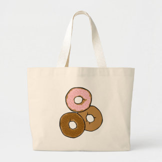 Three Delicious Donuts Tote Bag