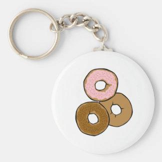 Three Delicious Donuts Basic Round Button Keychain