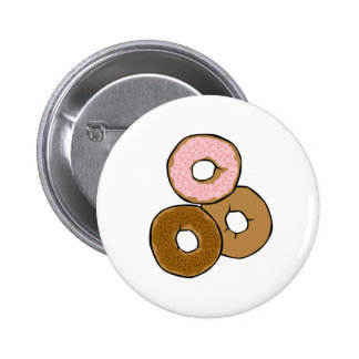 Three Delicious Donuts Pinback Buttons