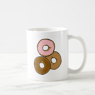 Three Delicious Donuts Classic White Coffee Mug