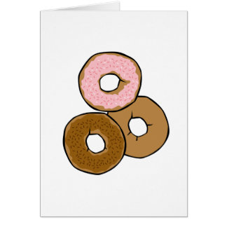 Three Delicious Donuts Greeting Cards