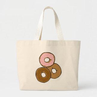Three Delicious Donuts Jumbo Tote Bag