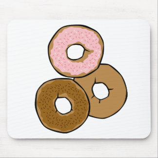 Three Delicious Donuts Mouse Pad