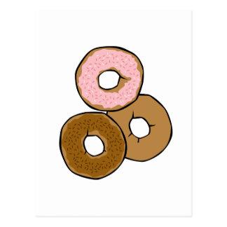 Three Delicious Donuts Postcard