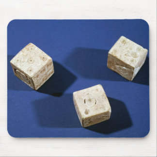 Three dice, from the acropolis at Osteria Mouse Pad