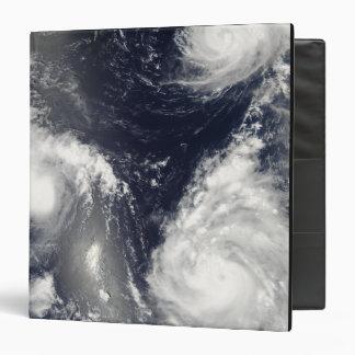Three different typhoons 3 ring binder