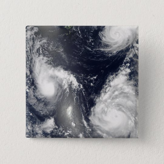 Three different typhoons pinback button