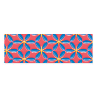 Three Dimension Blue Flowers on Pink Mini Business Card