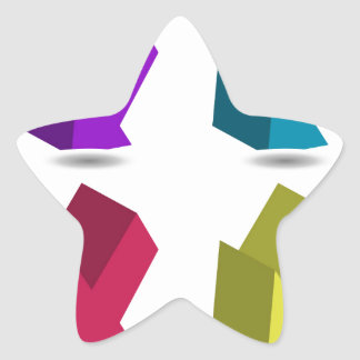 Three-dimensional Arrow Signs Star Sticker