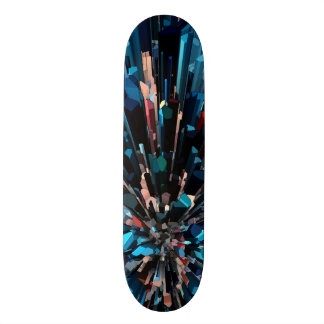 Three Dimensional Color Stacks Skateboard