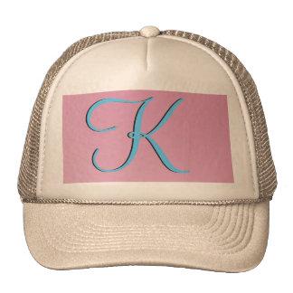 Three-Dimensional Pink Monogram Trucker Hat