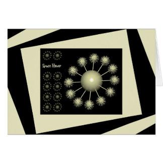 Three Dimensional Space Flower Card