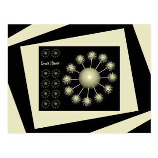 Three Dimensional Space Flower Postcard