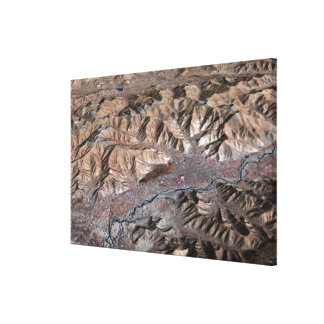 Three-dimensional view of the landscape canvas print