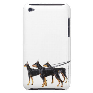 Three Dobermans on leash iPod Touch Case-Mate Case