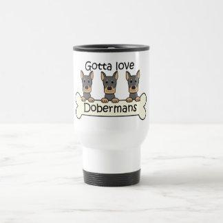 Three Dobermans Travel Mug