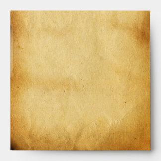 THREE DOGGIES WITH ROSES,Monogram  Parchment Envelope