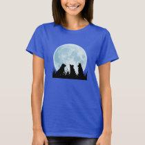 Three Dogs at Night T-Shirt