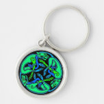 Three Dogs Celtic Knot Key Chain