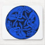 Three Dogs Entwined Mouse Pad